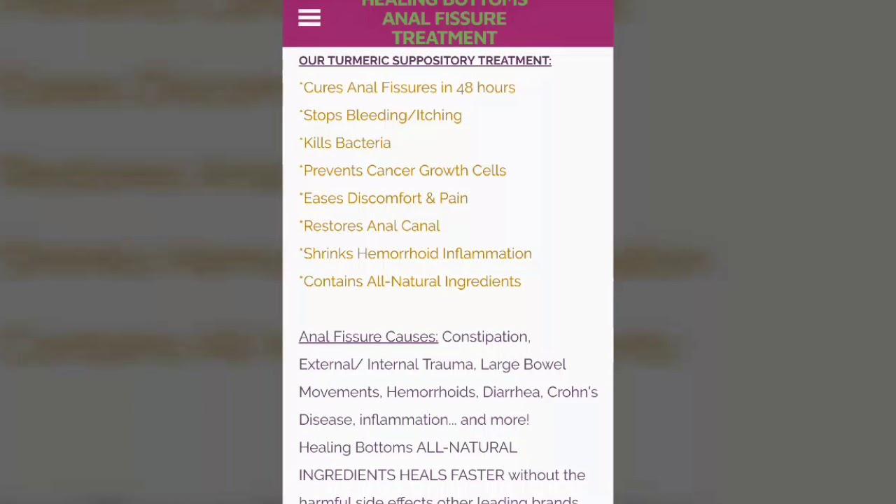 Anal Fissure Teatment FAQ - #1 FISSURE Hemorrhoid GUT IBS