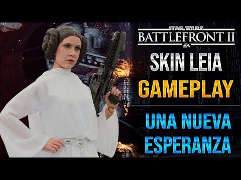 SKIN LEIA GAMEPLAY - LEIA UNA NUEVA ESPERANZA - EA - DICE - Star Wars Battlefront 2 - ByOscar94