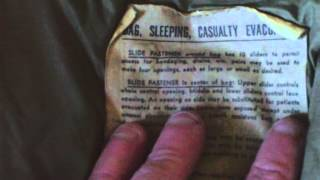 RARE WW2 US ARMY BAG,SLEEPING,CASUALTY EVACUATION,MARCH 1944