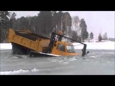 Truck thru ice