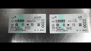 JR東海の指定席券売機で近距離きっぷ式の往復乗車券「桑名~弥富」を購入する