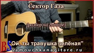 Сектор Газа - Ой, ты травушка зелёная - Аккорды, Разбор на гитаре
