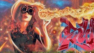 4K Graffiti Wall Wand Lemwerder Farbflut Urban Art Festival