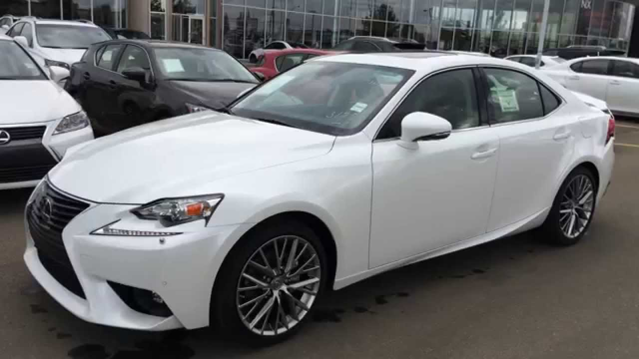 Brand New White On Black 2015 Lexus IS 250 Sport Sdn AWD