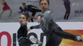 Дарья Павлюченко - Денис Ходыкин. Произвольная программа. Чемпионат Европы по фигурному катанию
