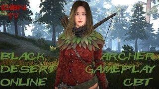 Black Desert Online BETA CBT Archer Gameplay (30 серия) корейцы и коты