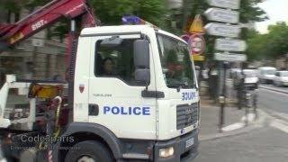 Dépanneuse de la Police nationale // Police Tow Truck Responding