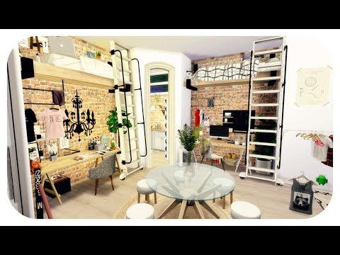 The Sims 4| Apartment Build | College Dorm Loft  Apartment (