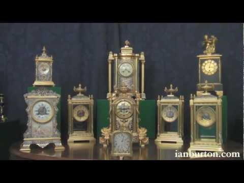 Antique French clocks, ready for sale now. from ianburton.com