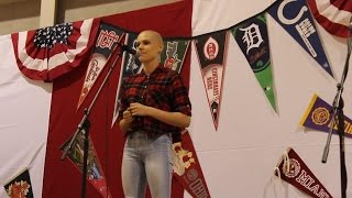 16-year-old cancer survivor sings 'Fight Song'