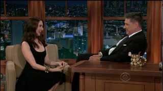 Alison Brie - adorable in Craig Ferguson interview