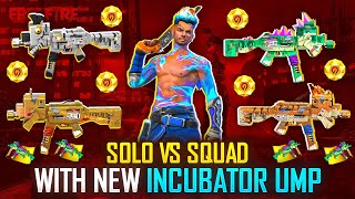 Solo Vs Squad With Incubator Top Gators PaperCut Ump & Free Fire King Wukong - Garena Free Fire