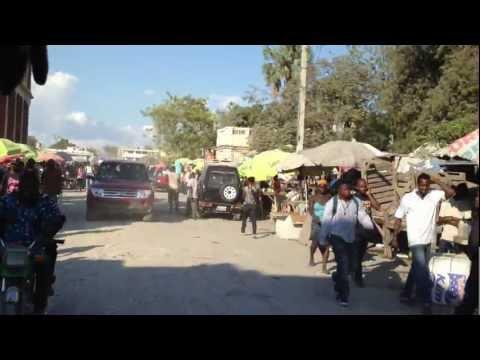 Riding through Haiti