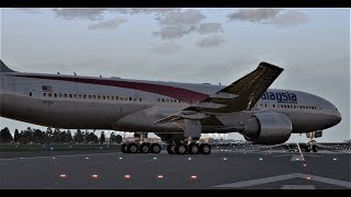 X Plane 11 Amazing Graphics (Near Miss with 747!)