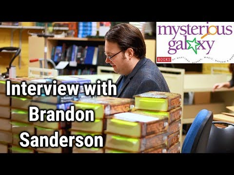 Interview with Brandon Sanderson + Event Talk | Mysterious Galaxy Bookstore
