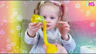 Супер Ведро с сюрпризами для маленького блогера Маши! Жёлтая слизь и много приколов игрушек