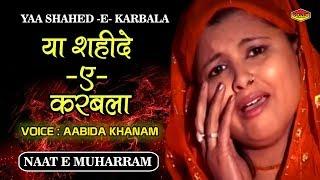 Ya Shahid e Karbala | Abida Khanam Naat | Karbala New  | Muharram 2017