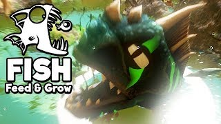 Feed and Grow Fish Gameplay German - LEVEL 350 Raptor frisst ALLES