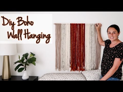 How to Make a Modern Wall Hanging | Pinterest inspired Boho decor
