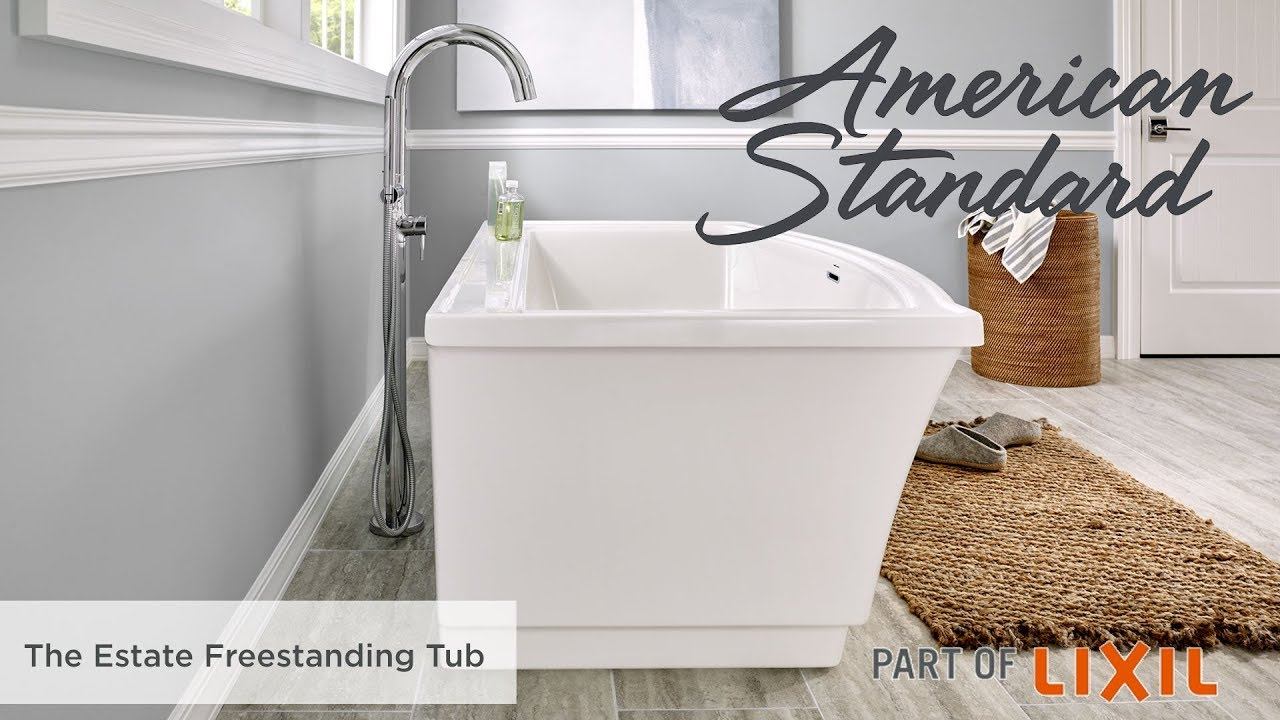 The Estate Freestanding Tub From American Standard Youtube
