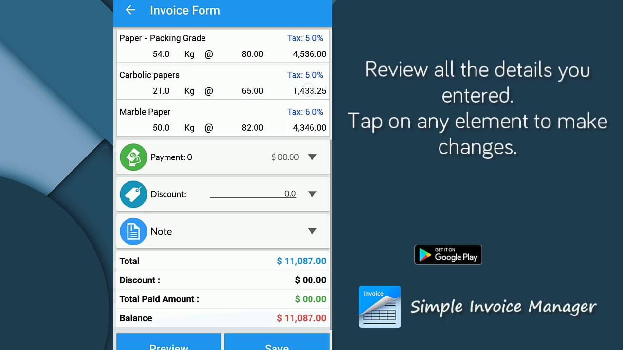 Simple Invoice Manager YouTube - Simple invoice manager