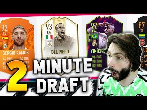 2 MINUTE DRAFT CHALLENGE! FIFA 19