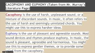 Poets- Skill 10- Cacophony and Euphony