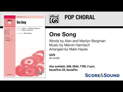 One Song, arr. Mark Hayes – Score & Sound