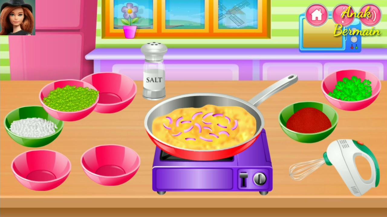 Permainan Barbie Memasak Kids Cooking Game Anak Perempuan Youtube
