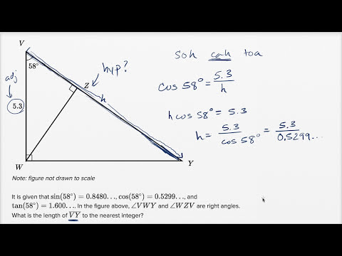 Right Triangle Geometry — Harder Example | Math | New SAT | Khan Academy