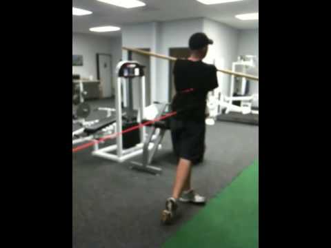 Golf specific training (weight transfer drill)