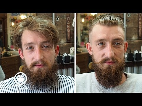 Dramatic Beard and Hair Transformation