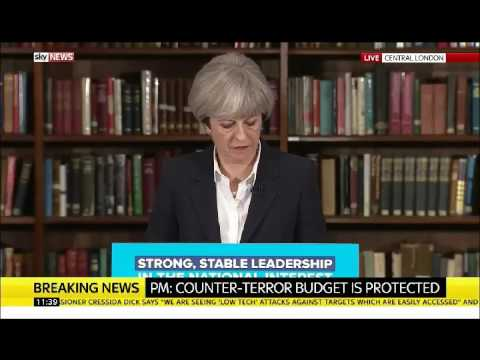 GE2017 Theresa May refuses to take any responsibility about Police cuts @ car crash press conference
