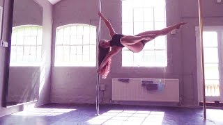Pole Training: New Tricks! 1 Arm Tricks, Flips, Pretty Spins & Deadlifts, Holds, etc! [May2015]