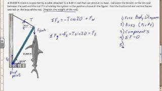 Example of Mechanical equilibrium with torque