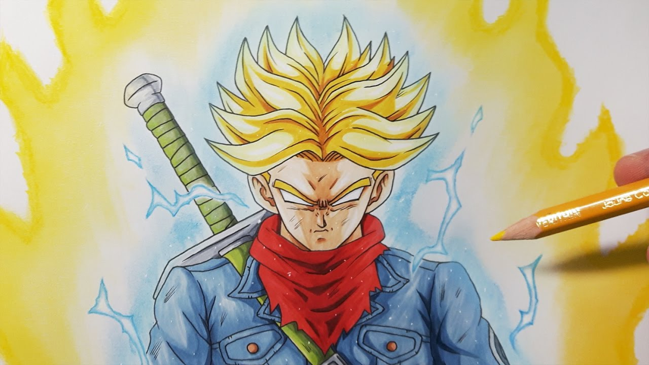 How To Draw Future Trunks Super Saiyan Rage Step By Step Tutorial