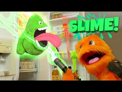 Green Slime DIY GELLI BAFF BATH Challenge 😀 Colors 😂 Slimer Ghostbusters Toysreview FOR KIDS