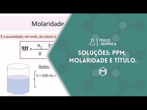 SLIDES - Soluções: Molaridade, Título e ppm.
