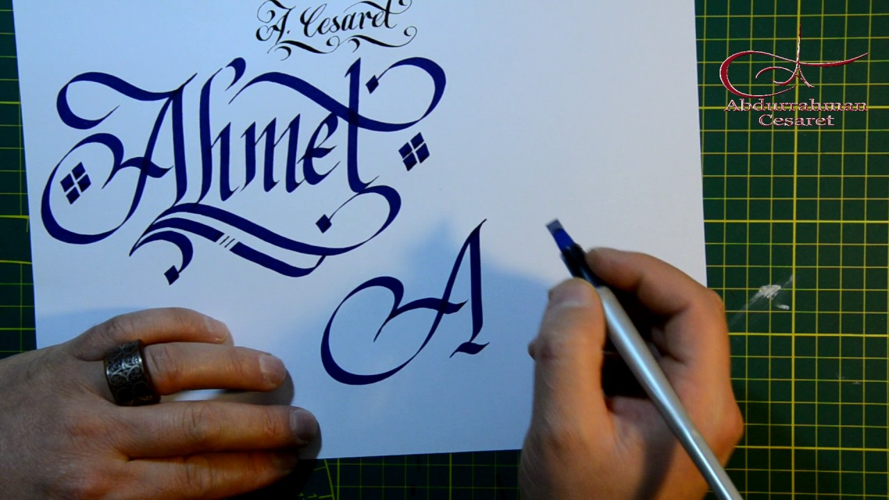 Kaligrafide süsleme teknikleri - Abdurrahman Cesaret - Verzierung Schnörkel kalligraphie