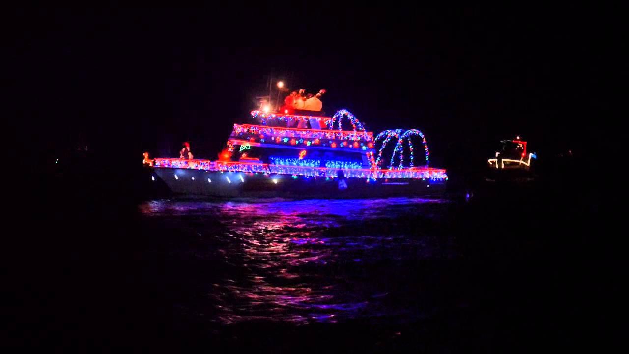 Destin Christmas Boat Parade 2015 - YouTube