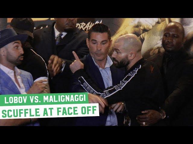 Artem Lobov vs. Paulie Malignaggi Face Off; Malignaggi Spits at Lobov