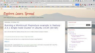 Running a Wordcount Mapreduce example in Hadoop 2.4.1 Single-node Cluster in Ubuntu 14.04 (64-bit)