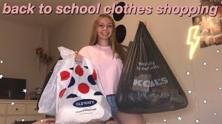 back to school clothes shopping!! | rue 21, old navy, kohl's