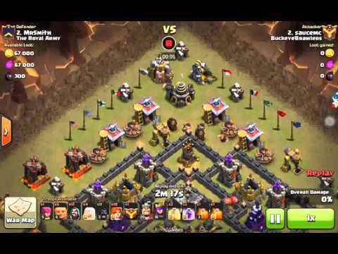 TH9 Heroic Attack Giant,Valkyrie,Healer,Wizards
