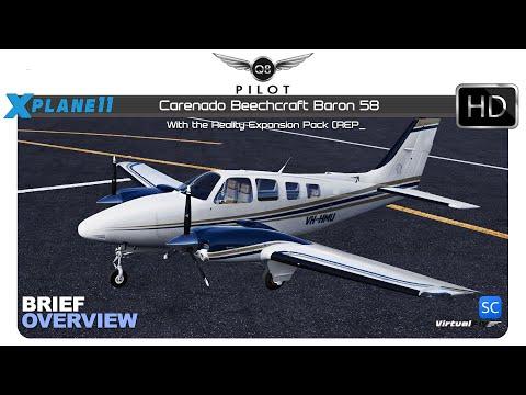 X-Plane 11 | Carenado Beechcraft Baron 58 With REP