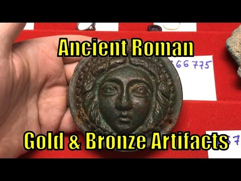 Ancient Roman MEDUSA CUPID  MONEY and RINGS Artifacts of Gold Silver and Terracotta