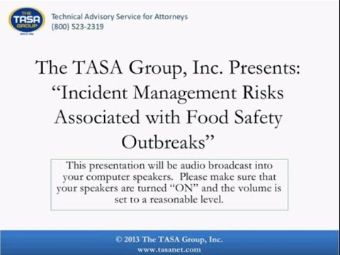 Incident Management Risks Associated with Food Safety Outbre