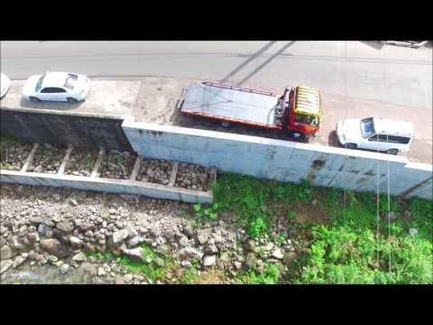 Gouyave Road Drone Video - Grenada
