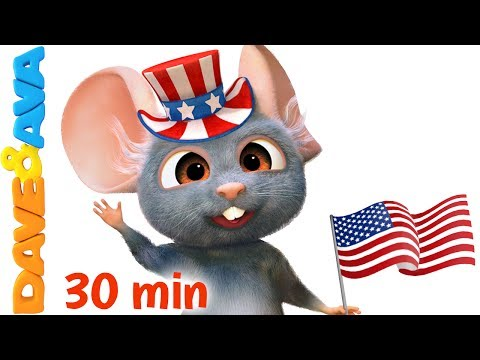 🇺🇸 Yankee Doodle | Independence Day Nursery Rhymes Collection from Dave and Ava 🇺🇸