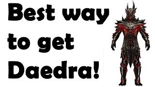 Skyrim: How to get Daedra Armor + Weapons without smithing!